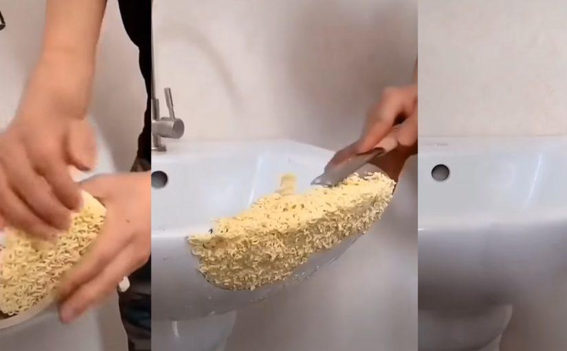 Czy można naprawić zlew przy pomocy zupki chińskiej?
