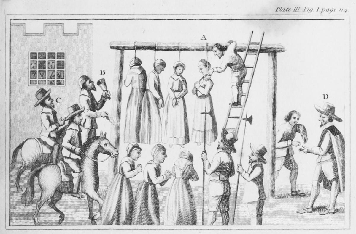 wieszanie czarownic, Newcastle 1655