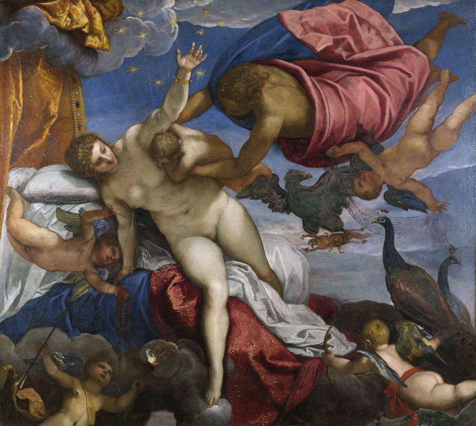 Jacopo Tintoretto Powstanie drogi mlecznej