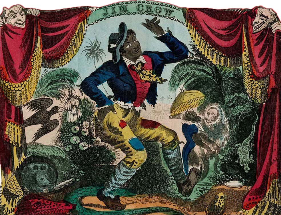 Thomas Rice jako Jim Crow