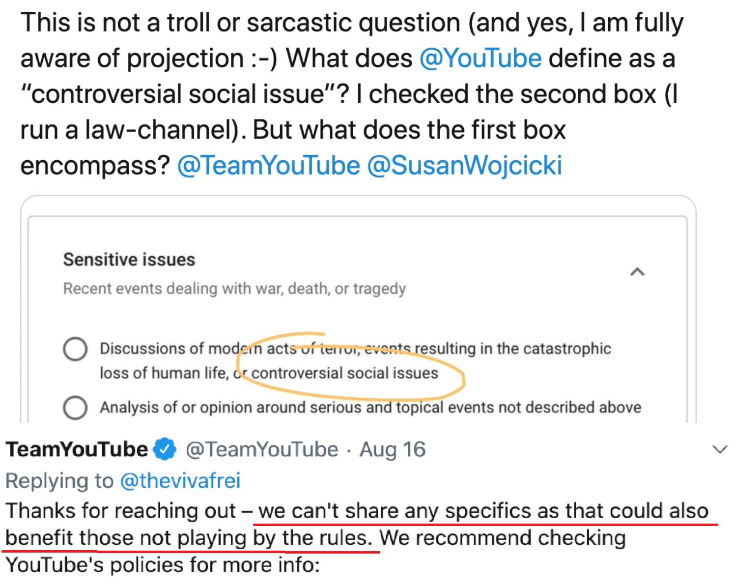 Niejasne Zasady YouTube