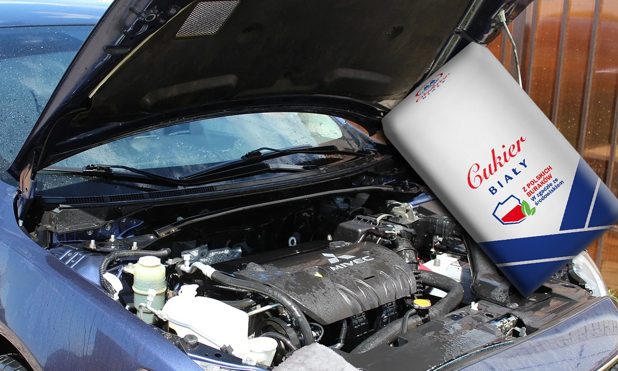 Czy nasypanie cukru do zbiornika paliwa może zniszczyć silnik?
